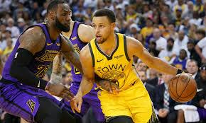 Stephen Curry Lebron James Golden States Warriors Los Angeles Lakers